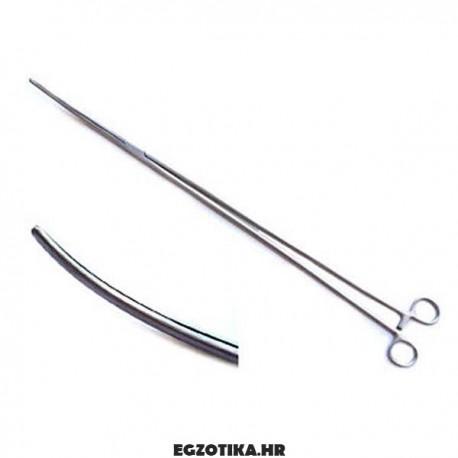 Forceps, zakrivljeni, 40 cm