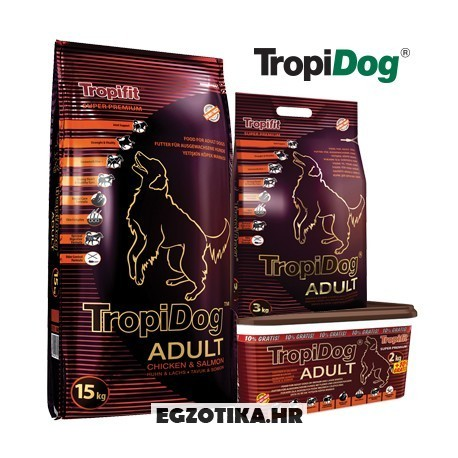 TropiDog Adult M&L Piletina i Losos
