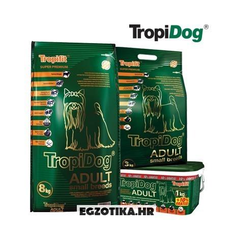TropiDog Adult S - Janjetina, losos i riža